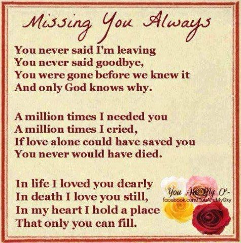 I miss my friend who died